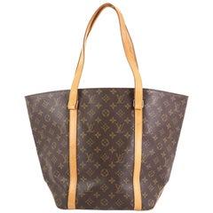 Louis Vuitton Shopping Sac Handbag Monogram Canvas MM