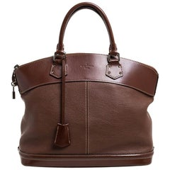 Louis Vuitton Sienne Suhali Leather Lockit MM Bag