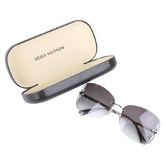 Louis Vuitton Silver/Brown Rimless Lily Sunglasses Z0308U