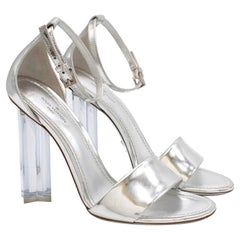 Louis Vuitton Silver Crystal Flower Sandals 36.5