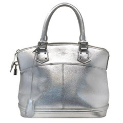 Louis Vuitton Silver Suhali Lockit PM Satchel Handbag