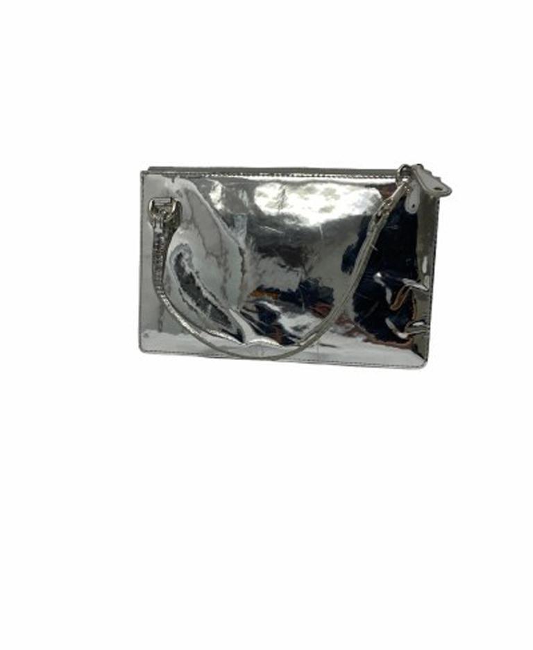 Women's Louis Vuitton Silver Vernice Miroir Pochette LE  For Sale