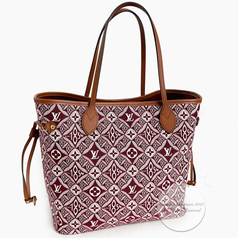 Louis Vuitton Since 1854 Neverfull Tote Bag Bordeaux + Removable Pouch in Box  For Sale 5