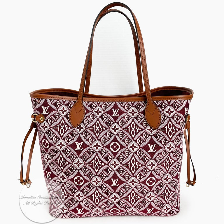 Louis Vuitton Since 1854 Neverfull Tote Bag Bordeaux + Removable Pouch in Box  For Sale 6