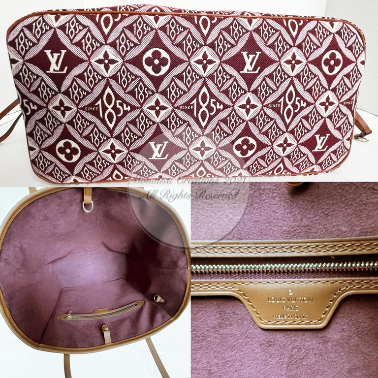 Louis Vuitton Since 1854 Neverfull Tote Bag Bordeaux + Removable Pouch in Box  For Sale 7