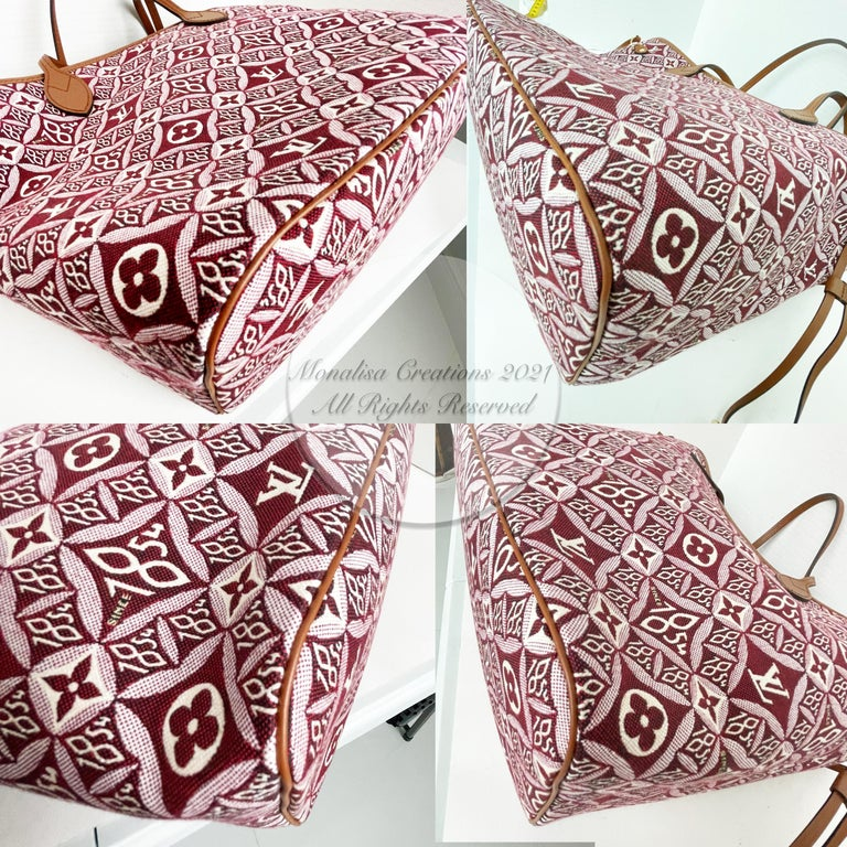 Louis Vuitton Since 1854 Neverfull Tote Bag Bordeaux + Removable Pouch in Box  For Sale 8