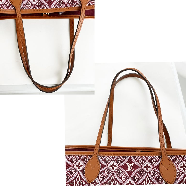 Louis Vuitton Since 1854 Neverfull Tote Bag Bordeaux + Removable Pouch in Box  For Sale 10