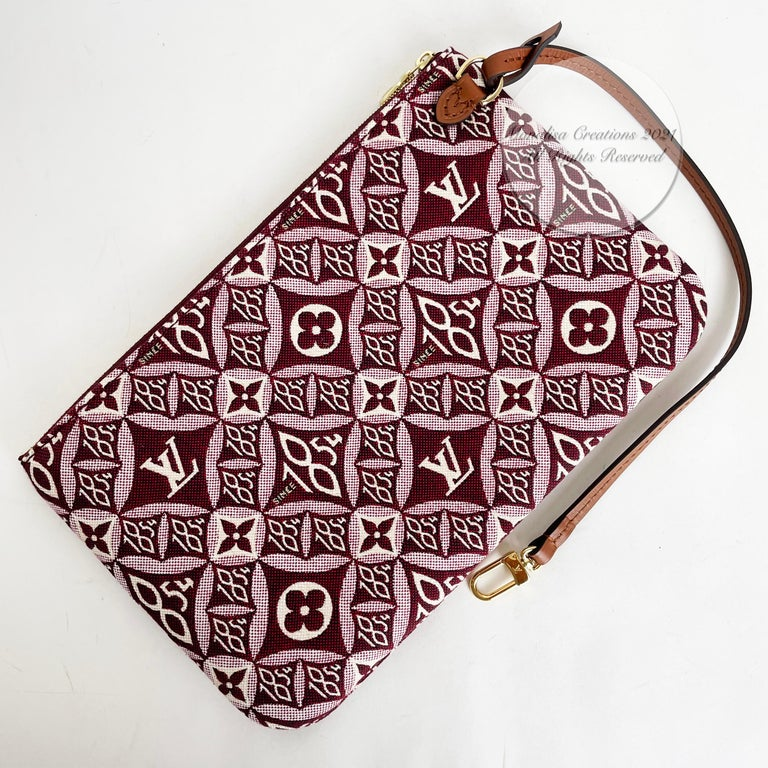 Louis Vuitton Since 1854 Neverfull Tote Bag Bordeaux + Removable Pouch in Box  For Sale 11