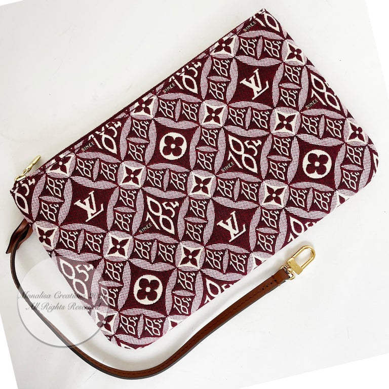 Louis Vuitton Since 1854 Neverfull Tote Bag Bordeaux + Removable Pouch in Box  For Sale 12