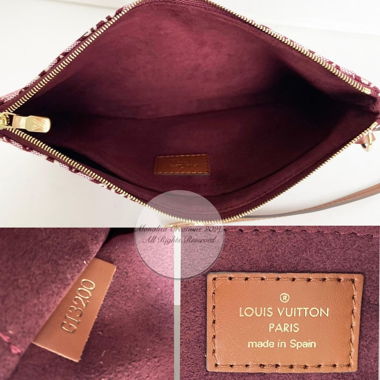 Louis Vuitton Since 1854 Neverfull Tote Bag Bordeaux + Removable Pouch in Box  For Sale 14