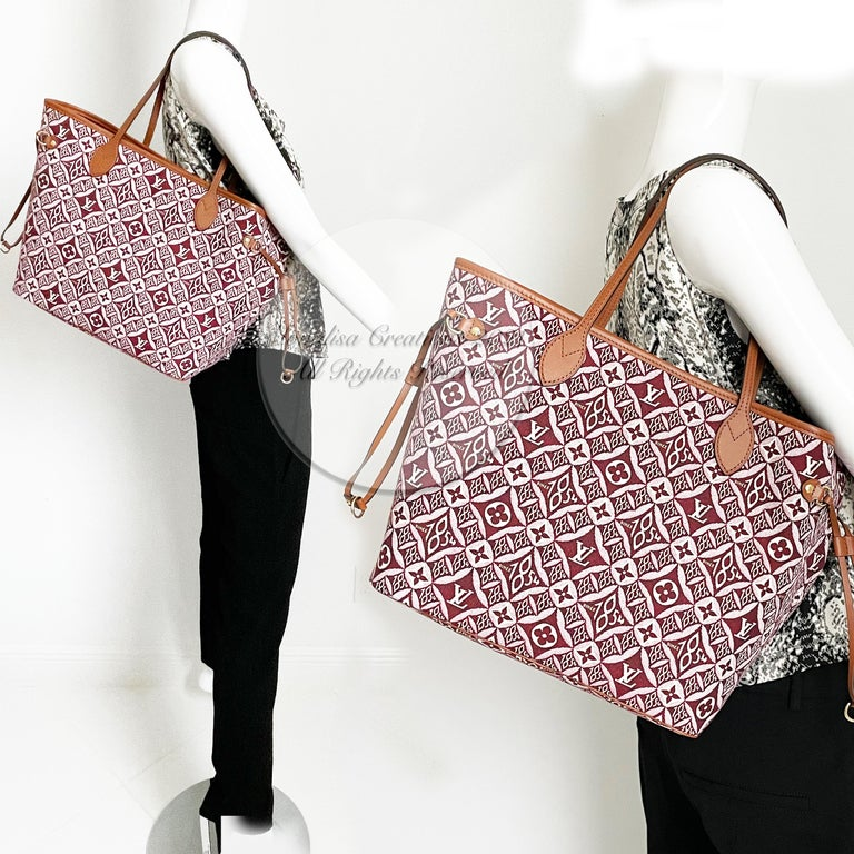 Women's or Men's Louis Vuitton Since 1854 Neverfull Tote Bag Bordeaux + Removable Pouch in Box  For Sale