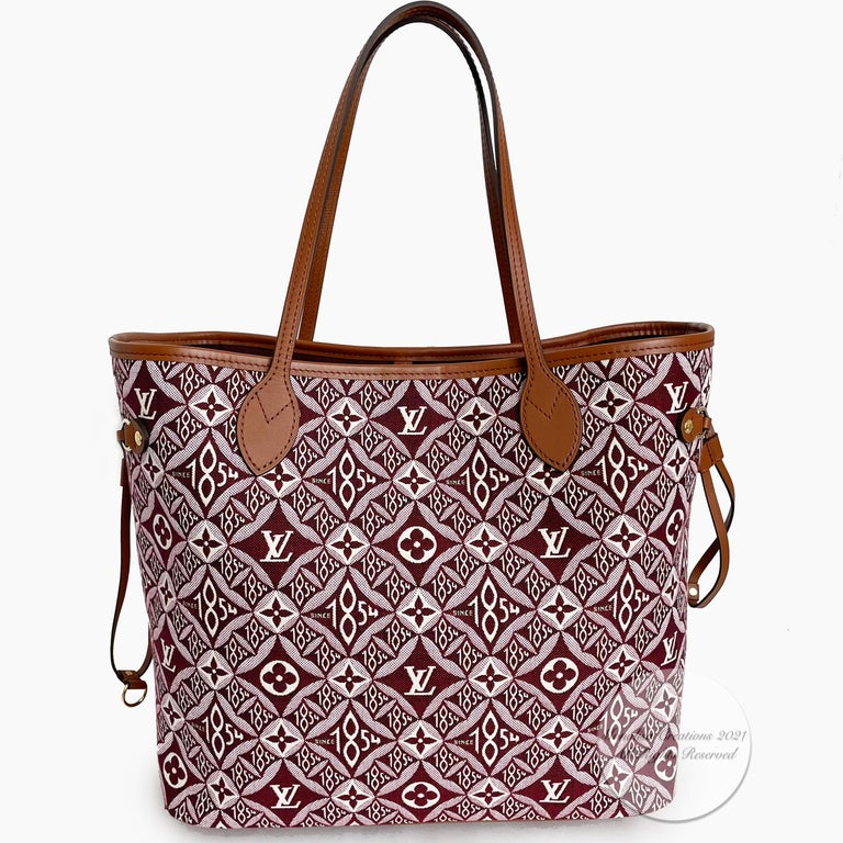 Louis Vuitton Since 1854 Neverfull Tote Bag Bordeaux + Removable Pouch in Box  For Sale 1