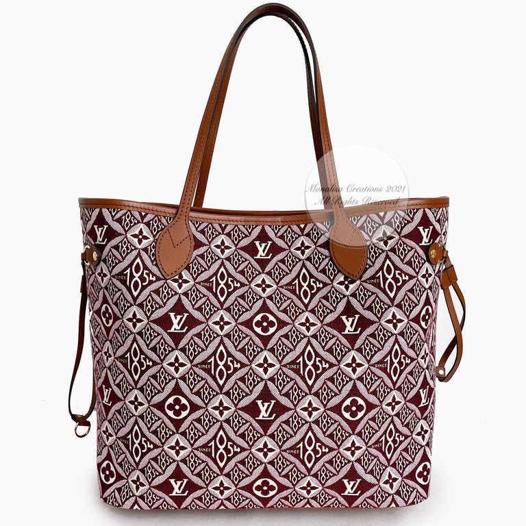 Louis Vuitton Since 1854 Neverfull Tote Bag Bordeaux + Removable Pouch in Box  For Sale 3