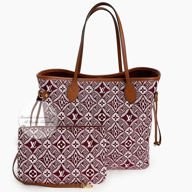 Louis Vuitton Since 1854 Neverfull Tote Bag Bordeaux + Removable Pouch in Box  For Sale 4