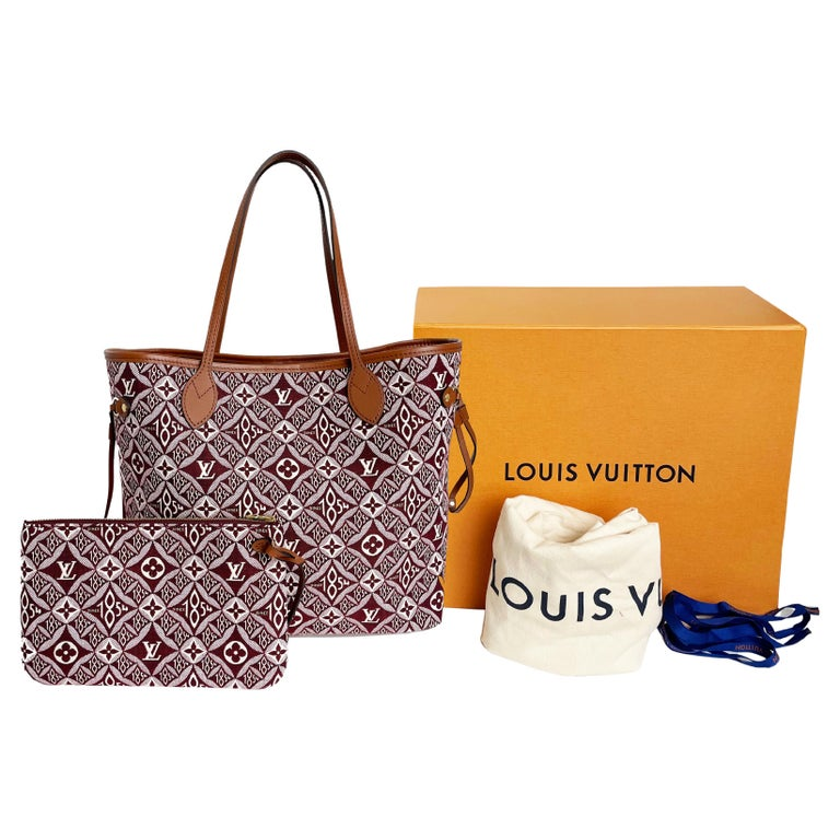 Louis Vuitton Since 1854 Neverfull Tote Bag Bordeaux + Removable Pouch in Box  For Sale