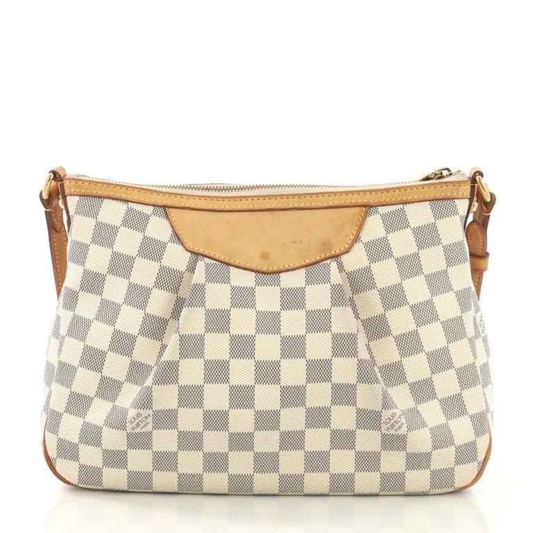 Beige Louis Vuitton Siracusa Handbag Damier PM