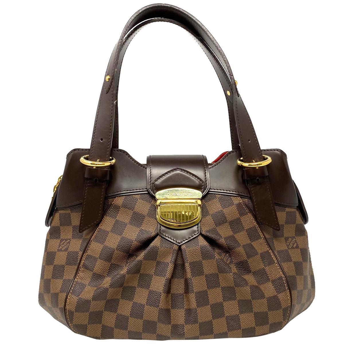 Louis Vuitton Sistina MM Damier Ebene Canvas Shoulder Bag