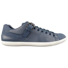 LOUIS VUITTON Size 13 Navy Leather & Rubber Low Top Sneakers