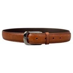 LOUIS VUITTON Size 36 Cognac Leather Belt
