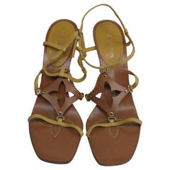 Louis Vuitton Size 39 Monogram Wedge Sandals