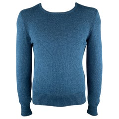LOUIS VUITTON Size M Knitted Aqua Wool Blend Crew-Neck Pullover Sweater