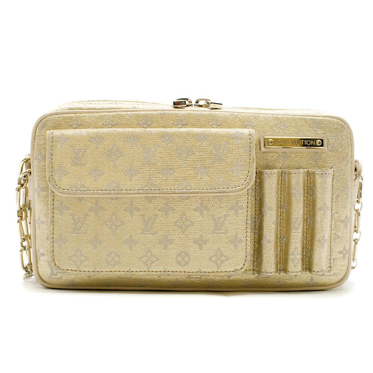 0632e6ce97469 Louis Vuitton Small Gold Limited Edition Monogram Bag at 1stdibs