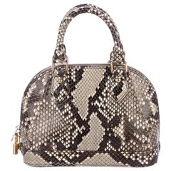 Louis Vuitton Snakeskin Exotic Brown BB Small Top Handle Satchel Shoulder Bag