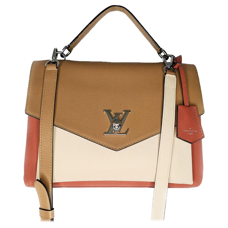 Louis Vuitton Soft Calfskin Mylockme Shoulder Bag