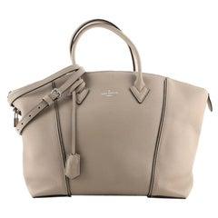 Louis Vuitton Soft Lockit Handbag Leather MM