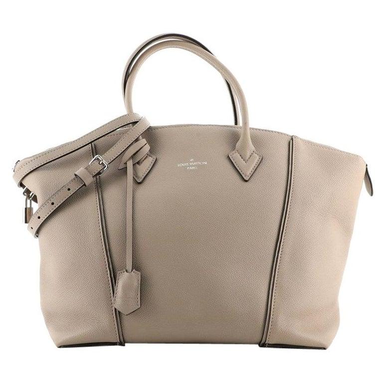 Louis Vuitton Soft Lockit Handbag Leather MM For Sale