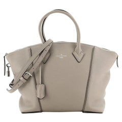 Louis Vuitton Soft Lockit Handbag Leather PM