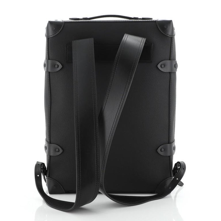 Louis Vuitton  Soft Trunk Backpack Rainbow Taiga Leather PM In Good Condition In New York, NY