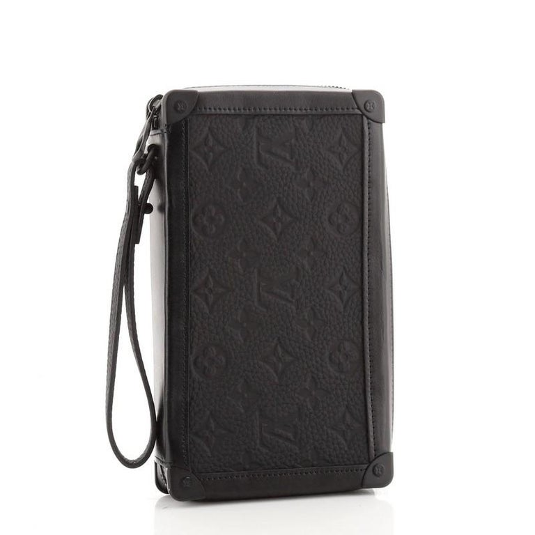 Black Louis Vuitton Soft Trunk Clutch Monogram Taurillon Leather For Sale