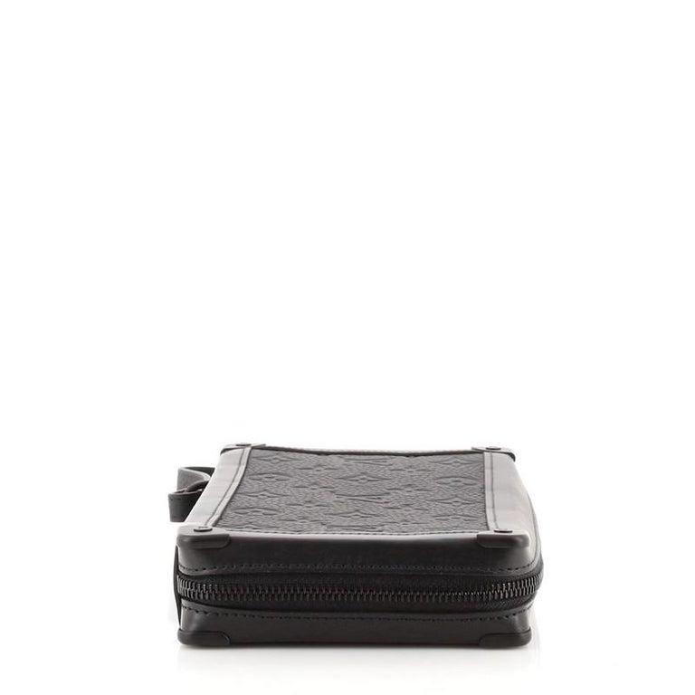 Women's or Men's Louis Vuitton Soft Trunk Clutch Monogram Taurillon Leather For Sale