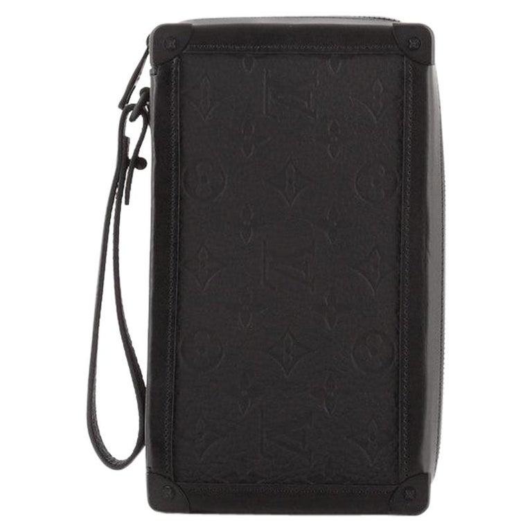 Louis Vuitton Soft Trunk Clutch Monogram Taurillon Leather For Sale