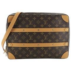Louis Vuitton Soft Trunk Messenger Bag Monogram Canvas MM