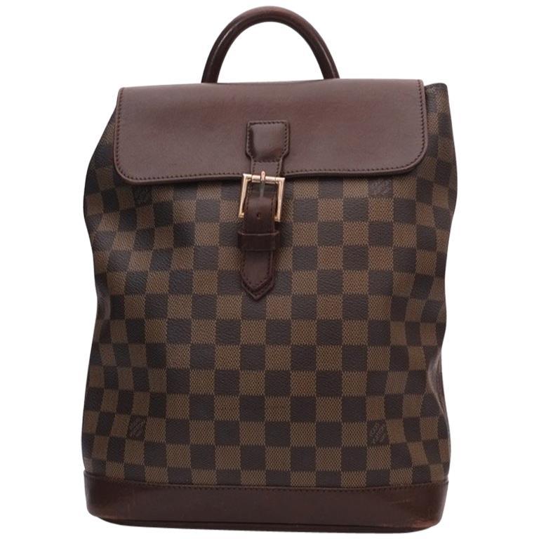02f246f38cb8 Louis vuitton Soho Damier Eben Backpack For Sale. LOUIS VUITTON VINTAGE  Soho Damier Ebene backpack Brown ...