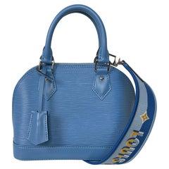 Louis Vuitton SOLD OUT Bleuet Blue Epi Jacquard Alma BB Crossbody Bag