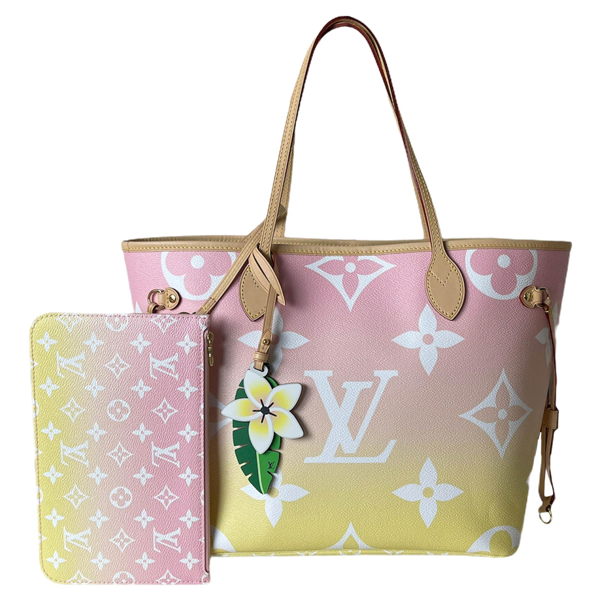 Louis Vuitton SOLD OUT Mist Monogram Giant By The Pool Neverfull MM Tote Bag