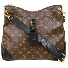 Louis Vuitton SOLD OUT Monogram/Black Leather Odeon MM Messenger Bag