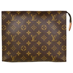 Louis Vuitton SOLD OUT Monogram Coated Canvas Toiletry 26 Pouch/Clutch Bag