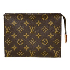 Louis Vuitton SOLD OUT Monogram Coated Canvas Toiletry Pouch 19 Cosmetic Bag