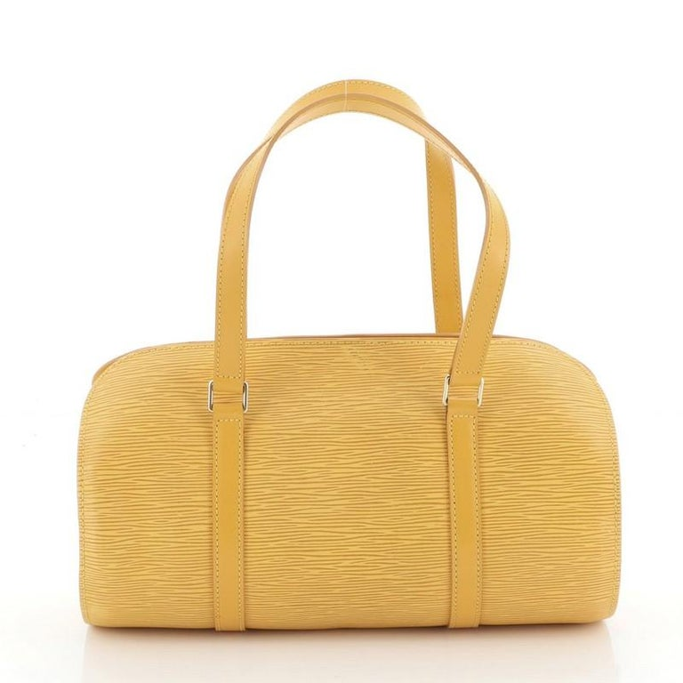 Louis Vuitton Soufflot Handbag Epi Leather In Good Condition For Sale In New York, NY