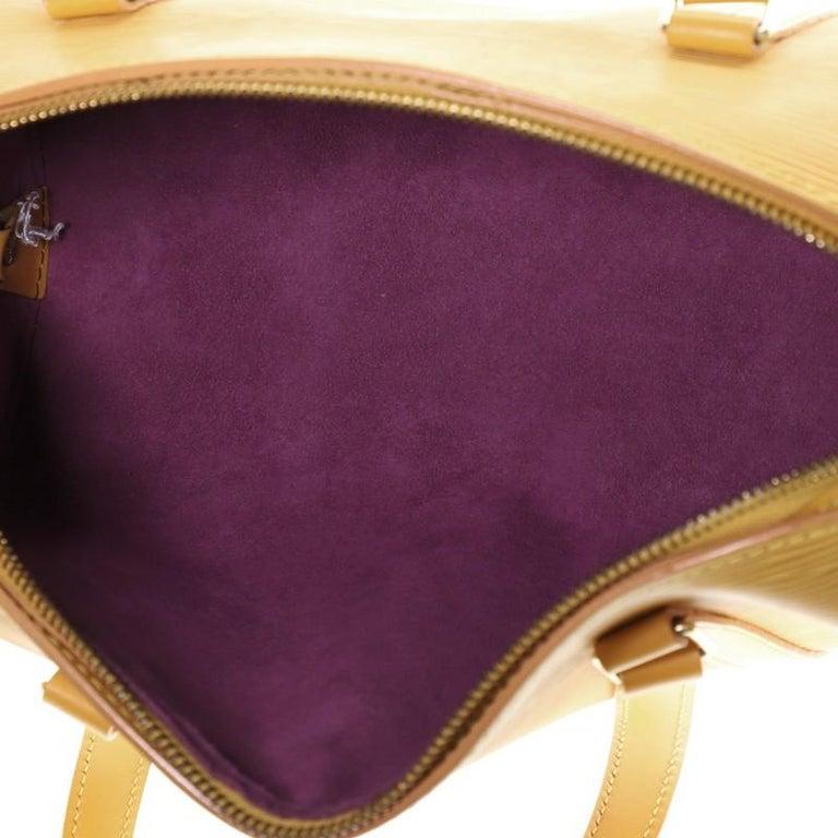 Louis Vuitton Soufflot Handbag Epi Leather For Sale 1