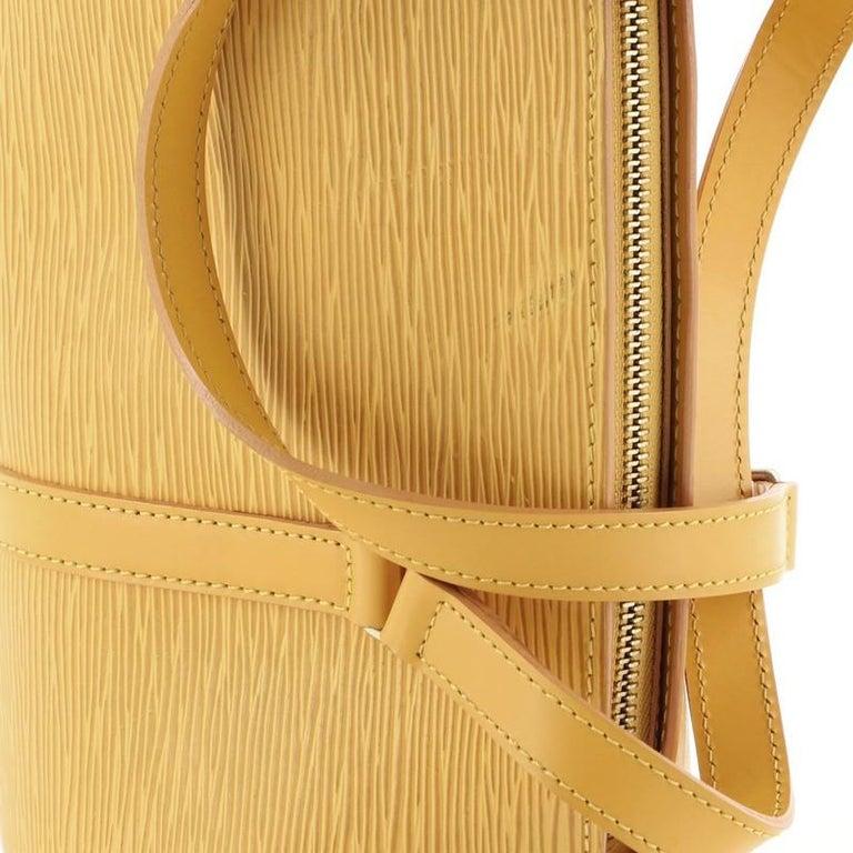 Louis Vuitton Soufflot Handbag Epi Leather For Sale 2