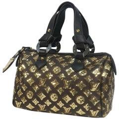 LOUIS VUITTON spangle Speedy 30 Womens handbag M40244 black x gold