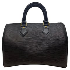 Louis Vuitton Speedy 25 Black EPI Leather Handbag, France 2002.