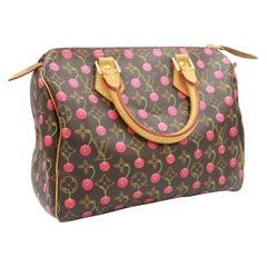 Louis Vuitton Speedy 25 handbag with cherries, by haruki Murakami