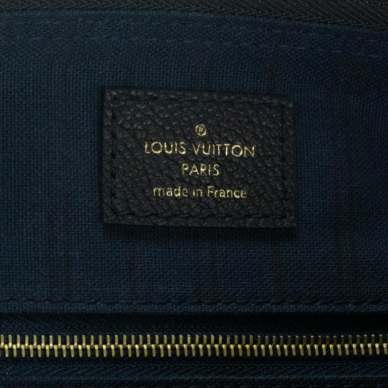 Louis Vuitton, Speedy 25 in blue leather For Sale 1