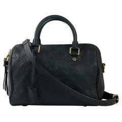 Louis Vuitton, Speedy 25 in blue leather
